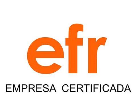 Certification EFR 3000-1