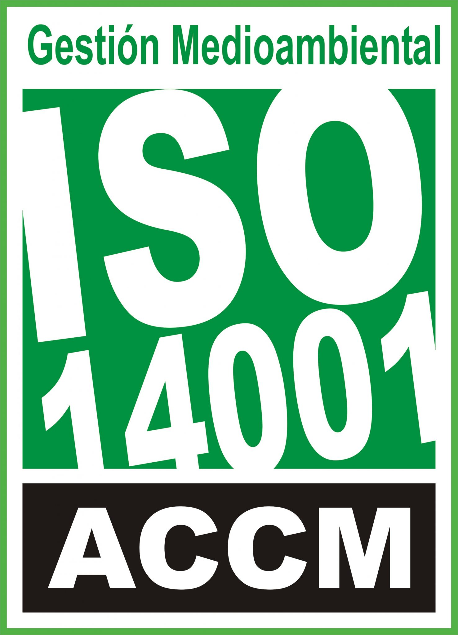 Standard certification UNE-EN ISO 14001.2015 (environmental management system)