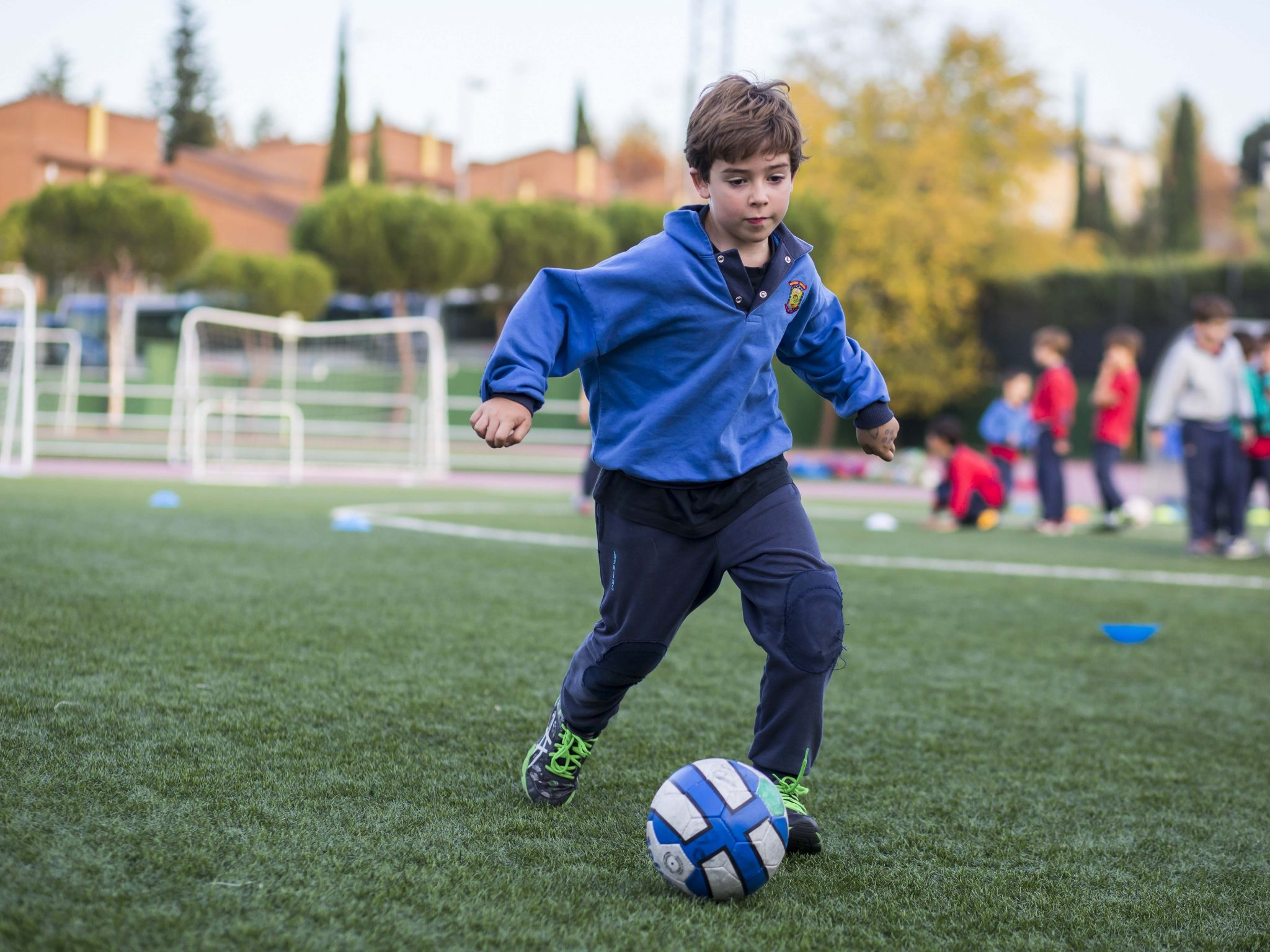 Campamento de verano con fútbol